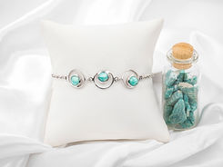Moda teal circle bracelet rocks.jpg