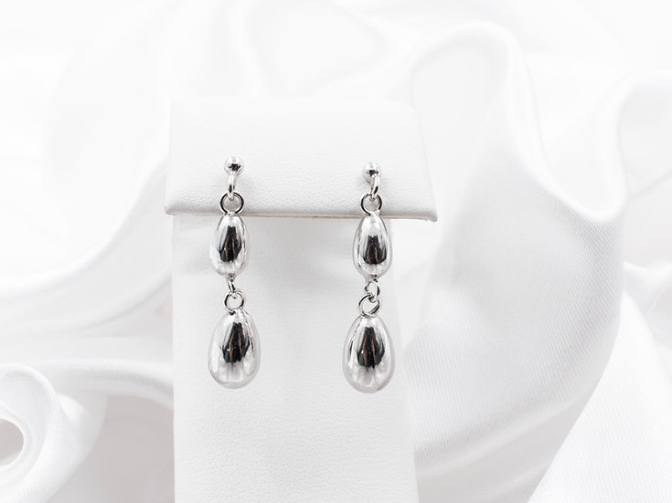 Sterling Silver Teardrop Dangle Earrings