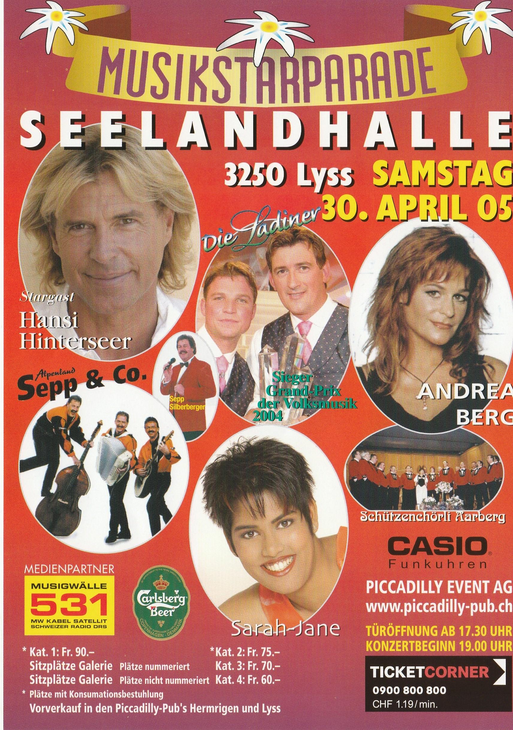 Musikstarparade Lyss 2005