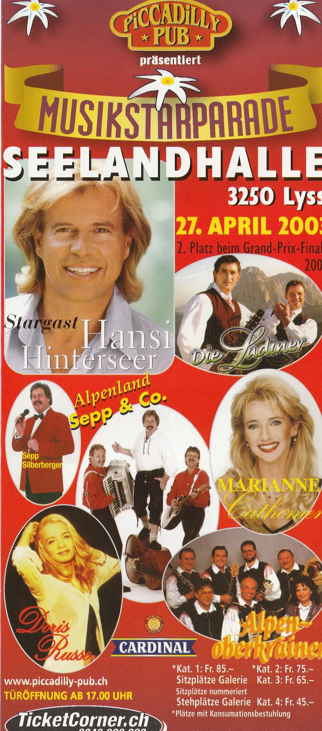 Musikstarparade Lyss 2003