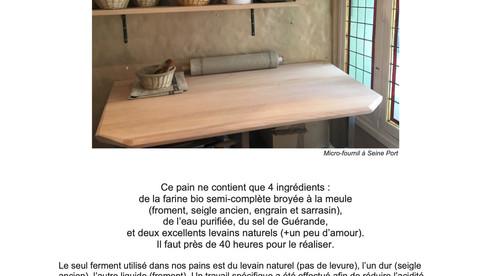 Le pain au levain de Camille Guermonprez...une folie.