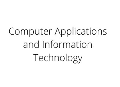 Computer Applications and Information Technology