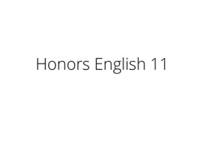 Honors English 11