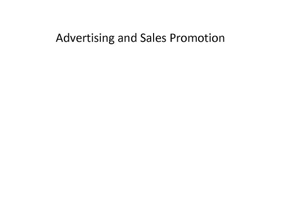 Summer School Advertising and Sales Promotion