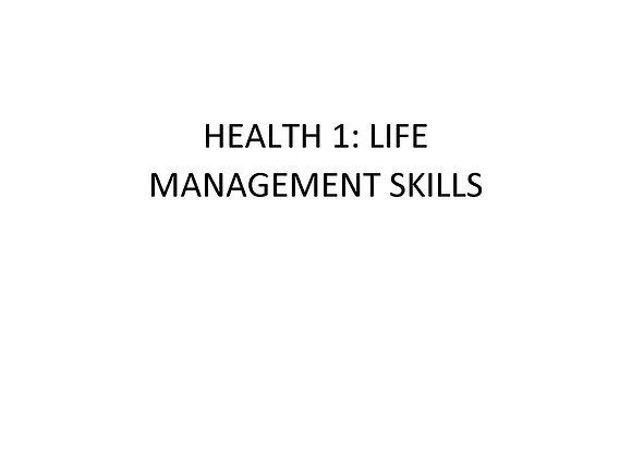 Summer School Health 1: Life Management Skills