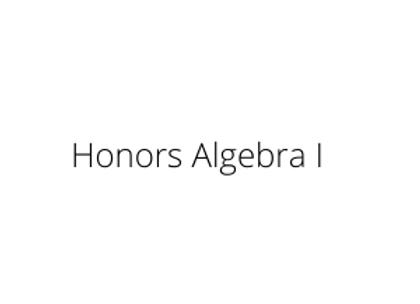 Honors Algebra I