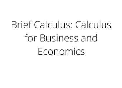 Brief Calculus: Calculus for Business and Economics