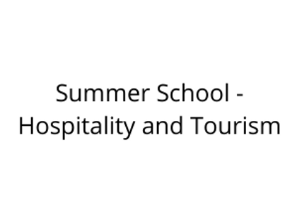 Summer School - Hospitality and Tourism
