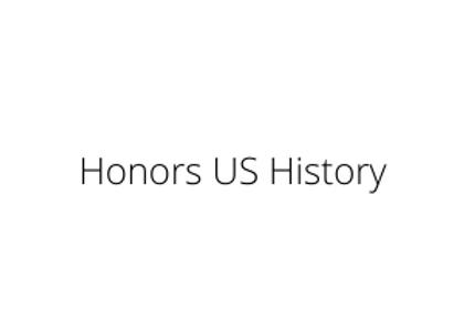 Honors US History