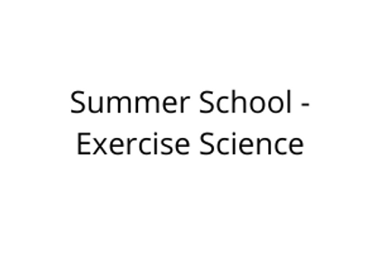 Summer School - Exercise Science