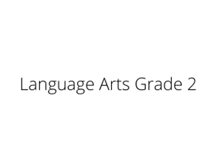 Language Arts Grade 2