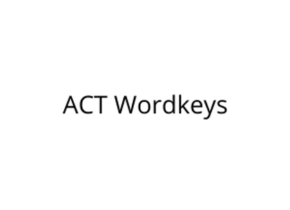 ACT Wordkeys