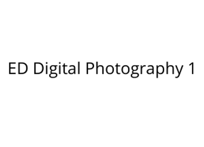 ED Digital Photography 1