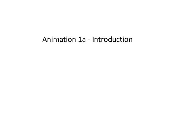 Animation 1a:  Introduction
