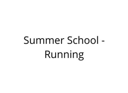 Summer School - Running