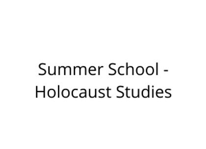 Summer School - Holocaust Studies