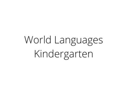 World Languages Kindergarten