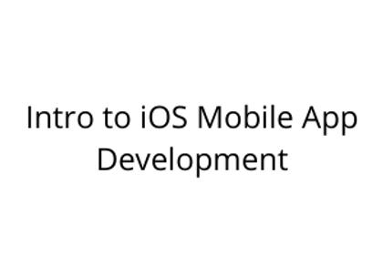 Intro to iOS Mobile App Development