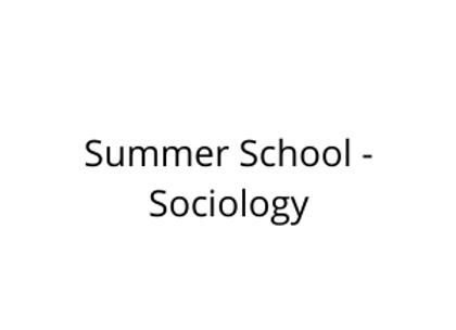 Summer School - Sociology