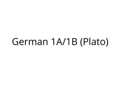 German 1A/1B (Plato)