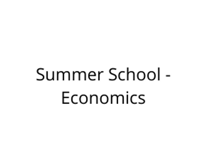 Summer School - Economics