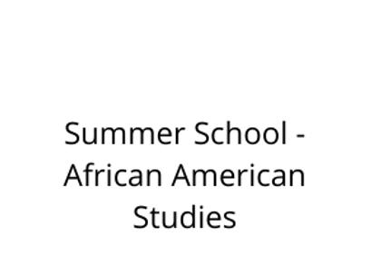 Summer School - African American Studies