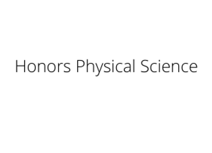 Honors Physical Science