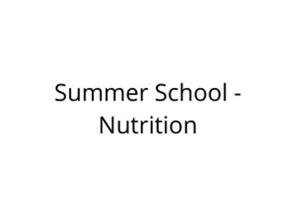 Summer School - Nutrition