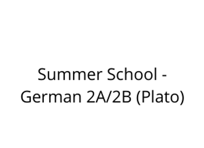 Summer School - German 2A/2B (Plato)
