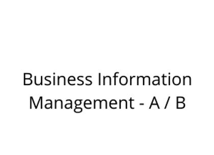 Business Information Management - A / B