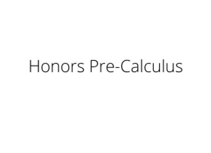 Honors Pre-Calculus
