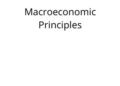 Macroeconomic Principles