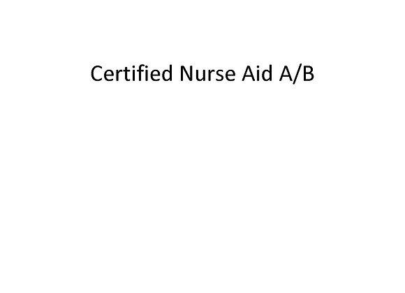 Summer School Certified Nurse Aid A/B
