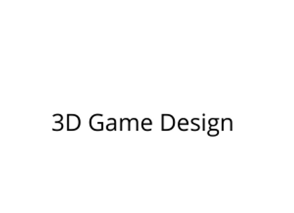 3D Game Design