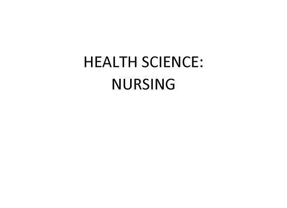 Summer School ED Health Science: Nursing