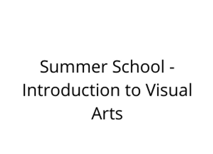 Summer School - Introduction to Visual Arts