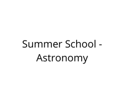 Summer School - Astronomy