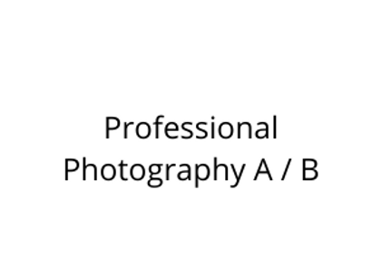 Professional Photography A / B