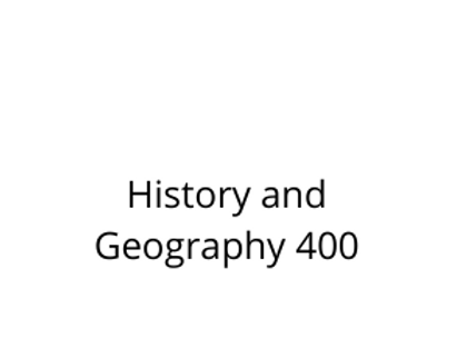 History and Geography 400
