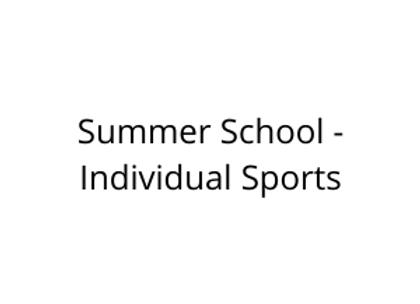 Summer School - Individual Sports