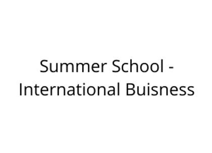 Summer School - International Buisness