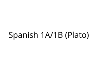 Spanish 1A/1B (Plato)