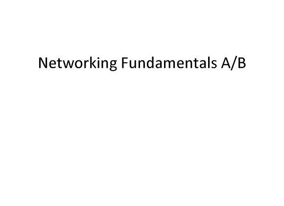 Networking Fundamentals A/B