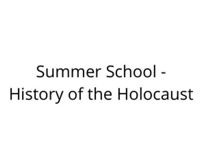 Summer School - History of the Holocaust