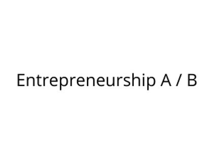 Entrepreneurship A / B