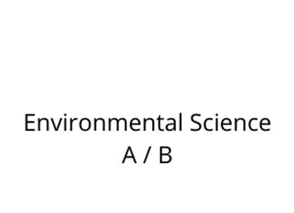 Environmental Science A / B