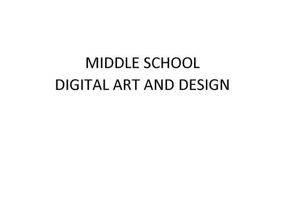 Middle School Digital Art and Design
