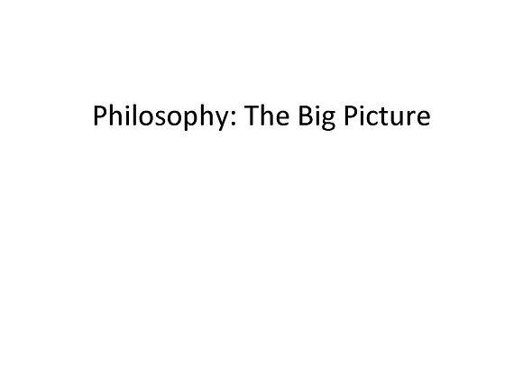 Summer School Philosophy: The Big Picture