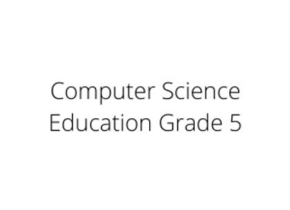 Computer Science Education Grade 5