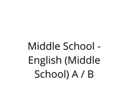 Middle School - English (Middle School) A / B